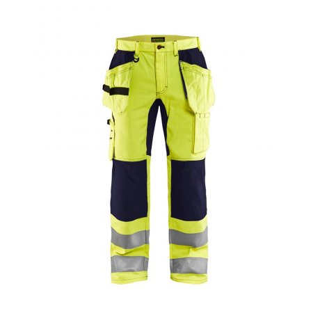 Blåkläder 1552 High Vis Werkbroek met Stretch