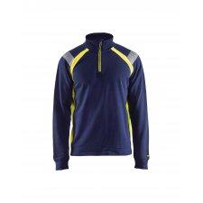 Blåkläder 3432 Sweatshirt Halve Rits Visible